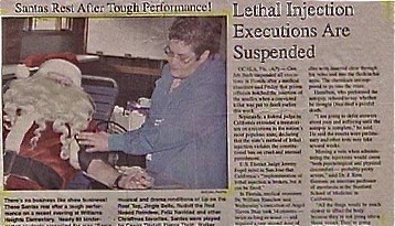 newspaper juxtaposition santa accidental sad - 7963972608