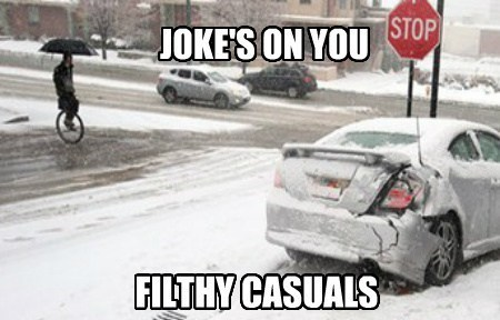 cars,snow,unicycles,winter