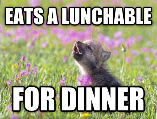 dinner Memes insanity pup lunchables