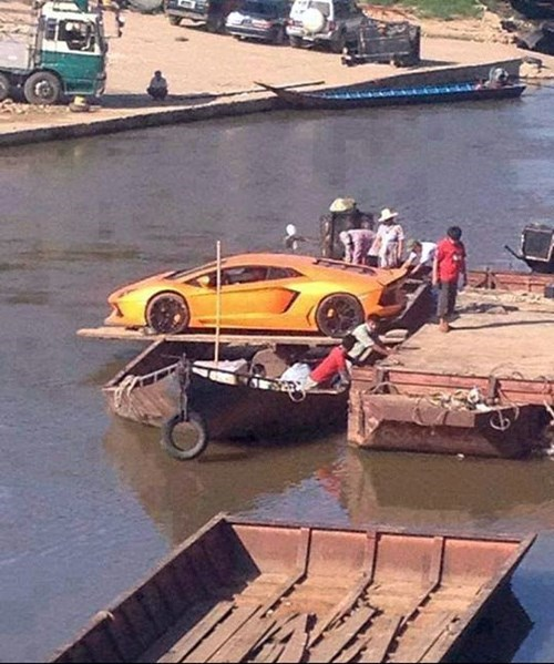 cars,bad idea,boat,accident waiting to happen