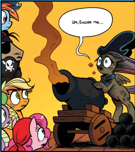 cannon puns canon MLP fluttershy mlp comics - 7964016128
