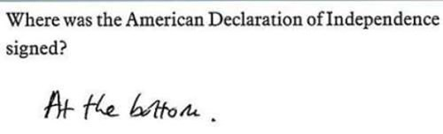 Text - Where was the American Declaration of Independence signed? At the bito