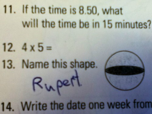 name funny rupert shape