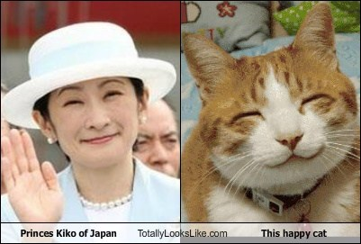 Princes Kiko of Japan Totally Looks Like This happy cat