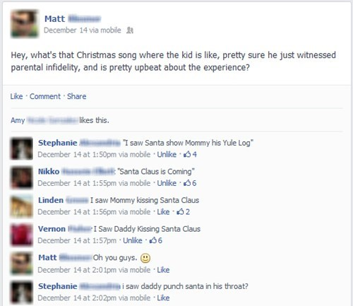 christmas songs christmas infidelity failbook - 7964232448