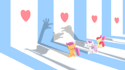 cutie mark crusaders hearts as strong as horses shadow puppets - 7964454144
