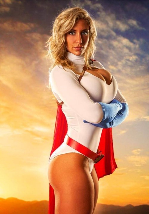 cosplay,powergirl,superheroes