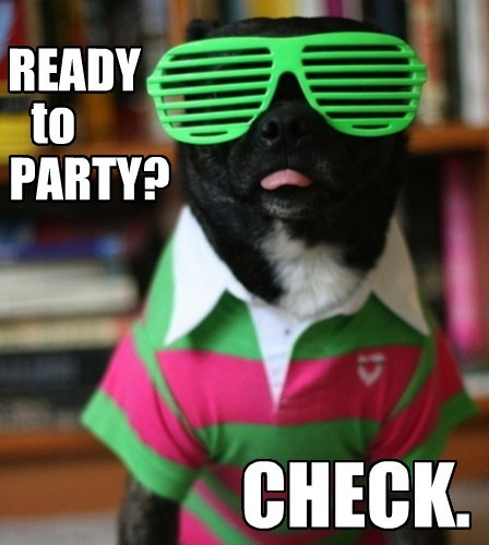 READY to PARTY? CHECK.