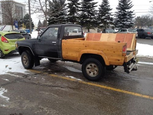 pickup trucks,wood,there I fixed it