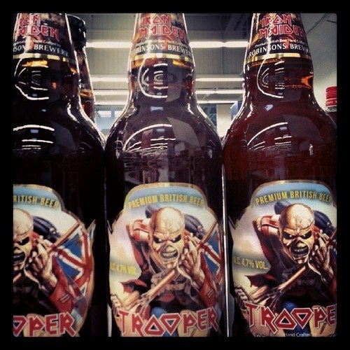 beer,iron maiden,funny,trooper