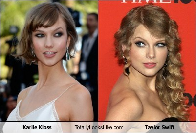 taylor swift,karlie kloss,totally looks like