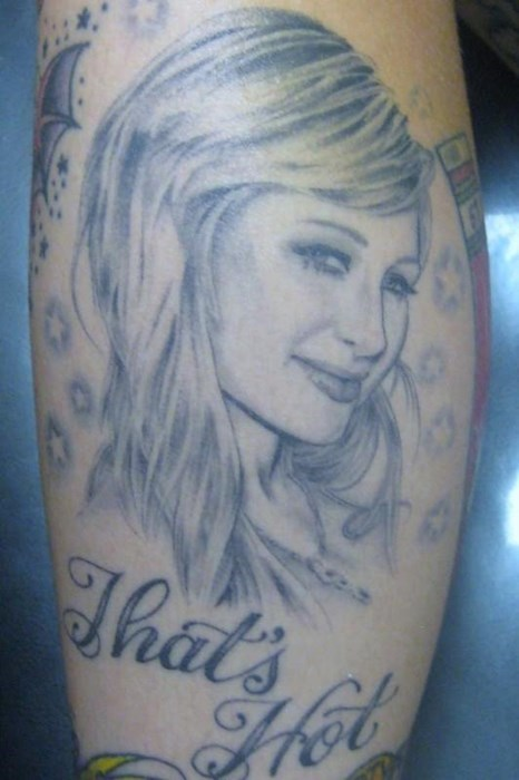 paris hilton,tattoos,g rated,Ugliest Tattoos