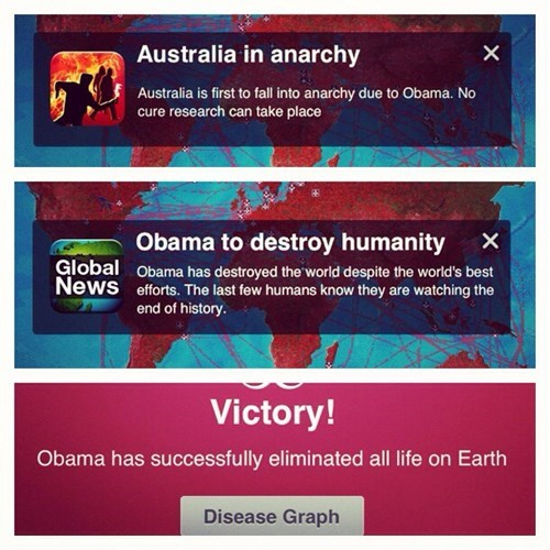 obama,thanks obama,plague-inc