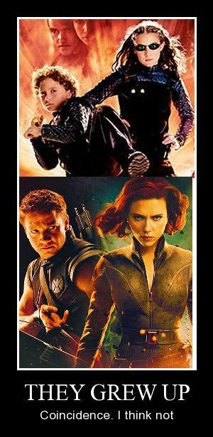 Black Widow spy kids hawkeye older funny
