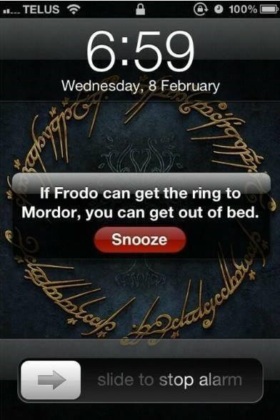 Lord of the Rings motivation alarms - 7965646080