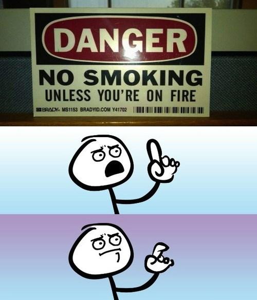 danger fire smoking - 7965790720