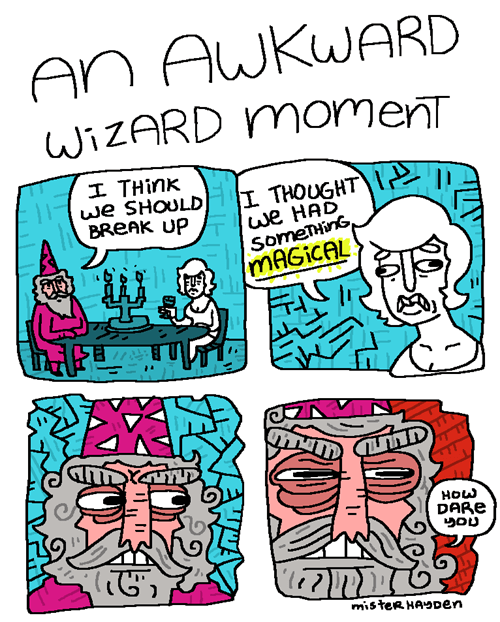 puns wizard comic breakup - 7966012416
