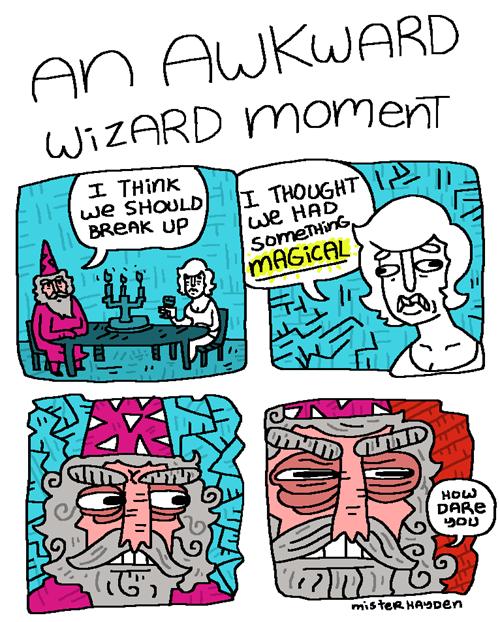 puns wizard comic breakup - 7966012416