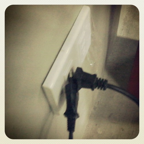 there I fixed it,electric outlets,electric cords