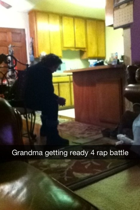 grandma,pensive,rap battle