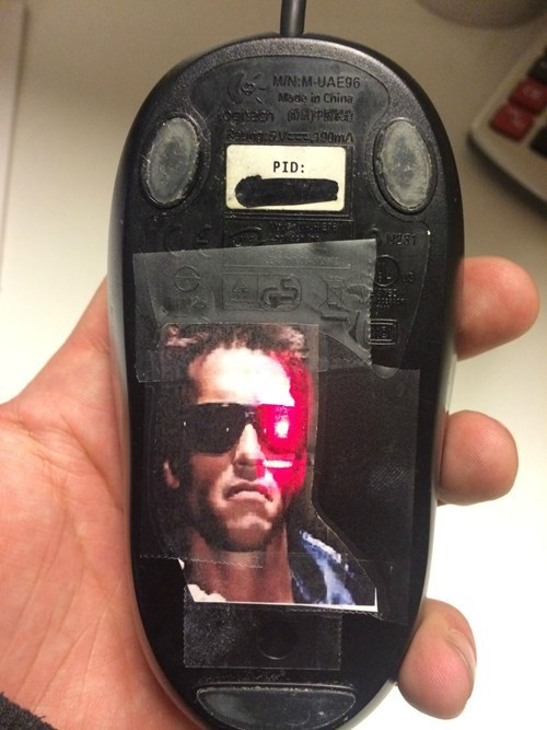 terminator lasers arnold scharzenegger mouse - 7966761728