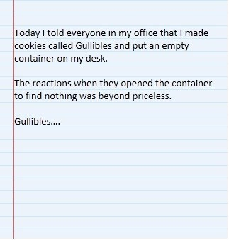 cookies,gullible,pranks