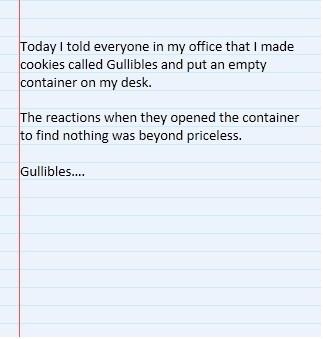 cookies gullible pranks