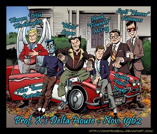 animal house Fan Art frat x men - 7966897408