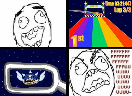 blue shell,Mario Kart,rage