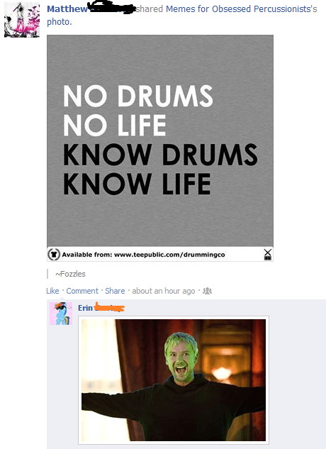 doctor who facebook drums the master - 7967670784