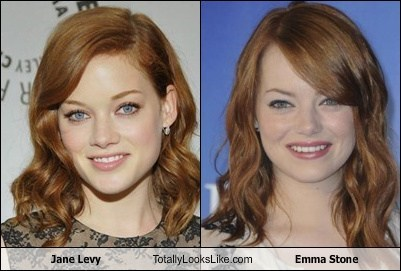 jane levy,emma stone,totally looks like