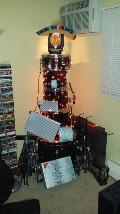 christmas christmas tree drums - 7968295680