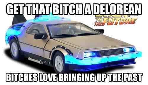 back to the future,dating,girls,DeLorean