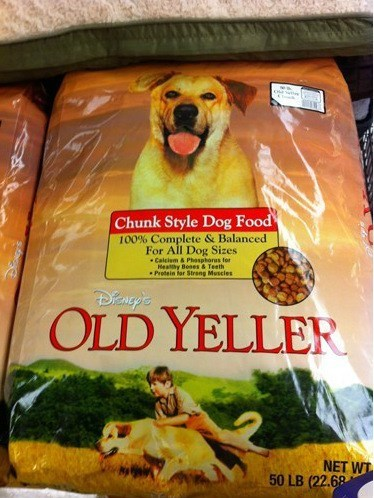 dogs dog food pets old yeller marketing fail nation