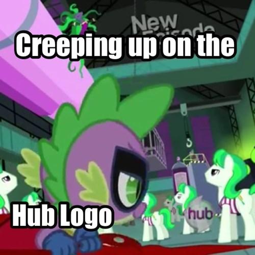 hub logo spike power ponies - 7968536832