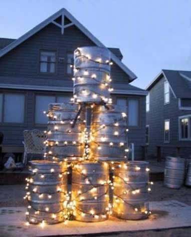 christmas lights kegs tree funny after 12 g rated - 7969064704