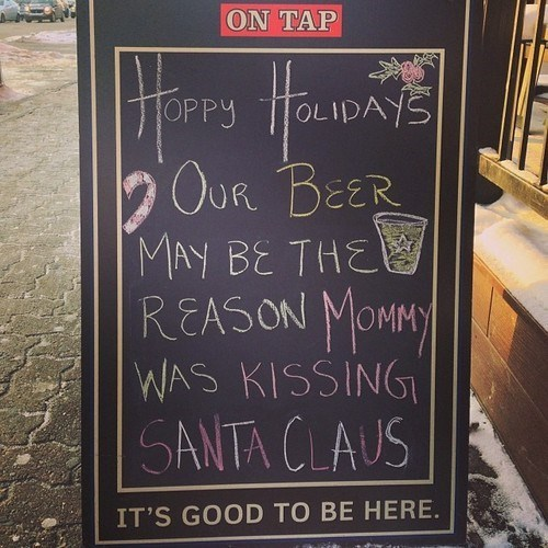 beer,mommy,pubs,sign,santa claus