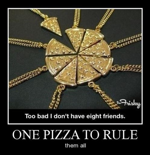 funny necklace pizza - 7969187328