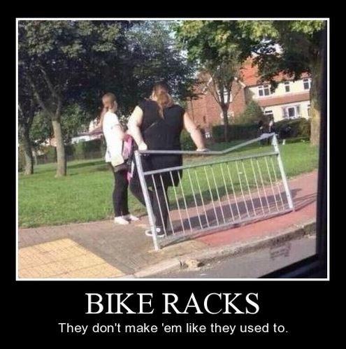 bike rack fat jokes funny wtf - 7969190144