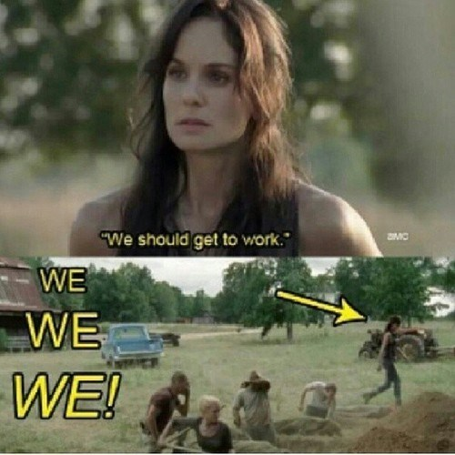 lori grimes,work,put the i in we