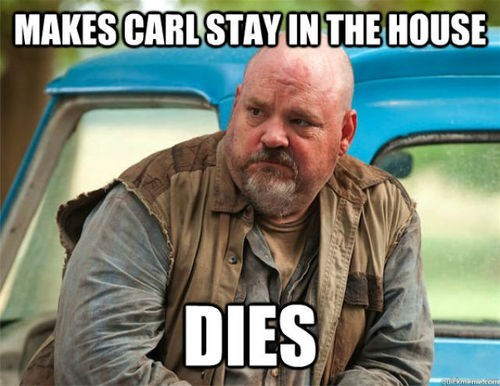 carl grimes,The Walking Dead,stay in the house