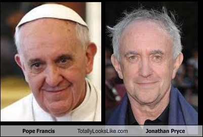 totally looks like,pope francis,jonathan pryce