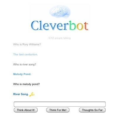 doctor who Cleverbot River Song - 7969884928
