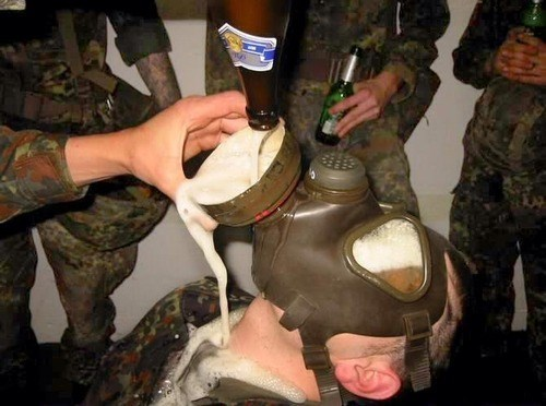 beer gas mask Germany funny soldiers - 7969979648
