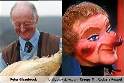totally looks like mr rogers puppet peter glazebrook