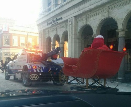 christmas tow truck parenting santa claus - 7970004224