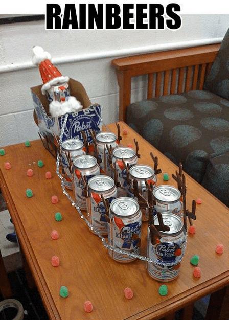 beer,christmas,funny,reindeer,pbr