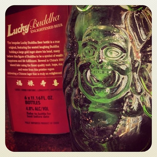 beer bottle design funny lucky buddha