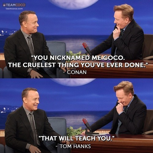 conan obrien Team Coco tom hanks - 7970018816