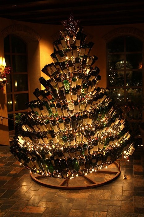 christmas christmas tree funny wine - 7970098432